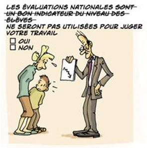 Evaluations nationales et évaluations des personnels ?