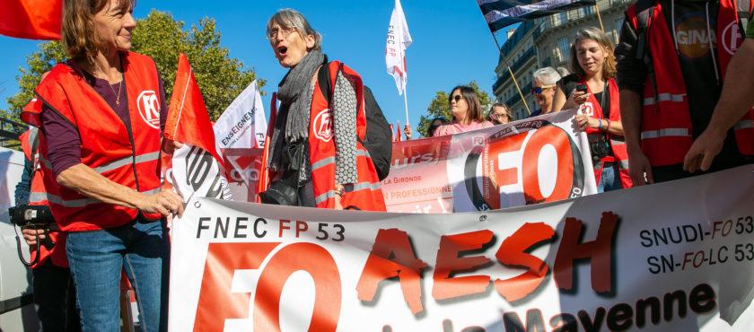 AESH : une mobilisation d'ampleur à Paris